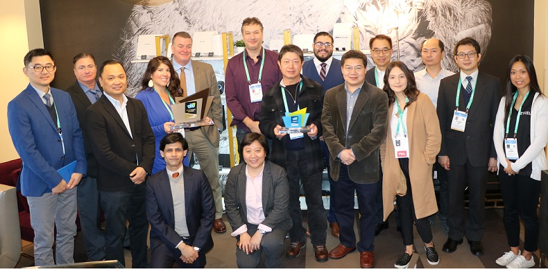 The Zyxel team member at CES 2020 in Las Vegas