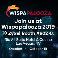 Zyxel Booth number 602 at Wispapalooza in Las Vegas Oct 14-19